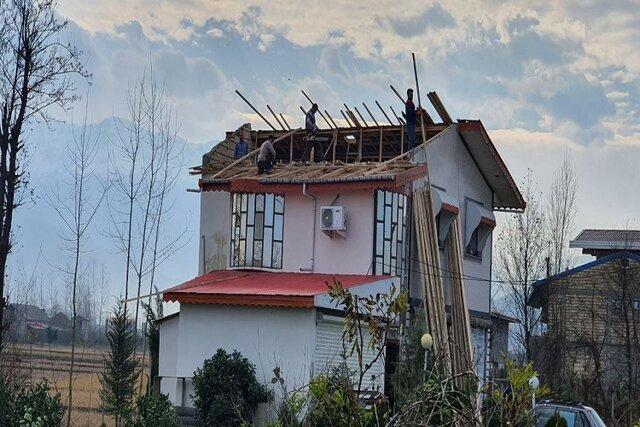 تخریب 125 واحد مسکونی رودسر در پی وزش باد شدید