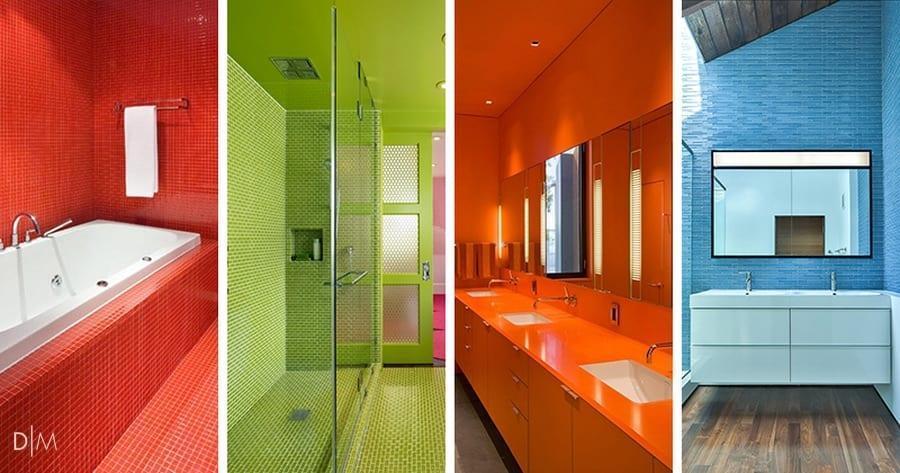 13 طراحی داخلی حمام و سرویس بهداشتی رنگارنگ