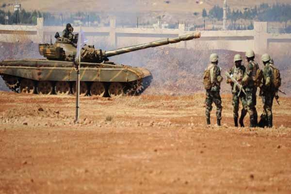 در هم کوبیده شدن مواضع تکفیری ها در غرب حلب