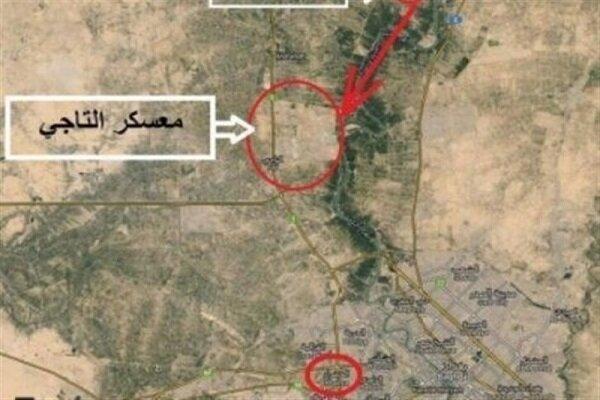 ائتلاف آمریکا حمله راکتی به پایگاه التاجی را تکذیب کرد