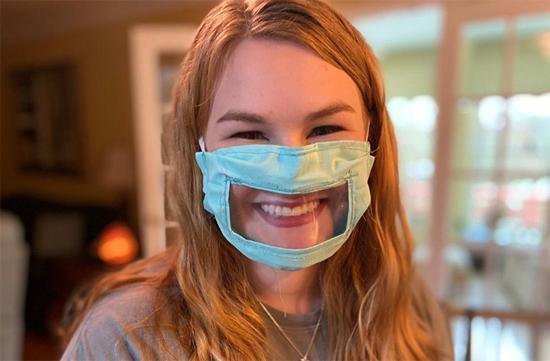 ماسک های امن و خلاقانه برای ناشنوایان