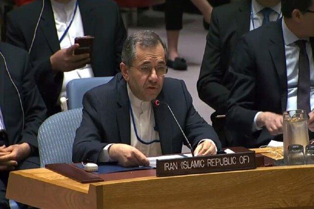 نمایندگی ایران: شورای امنیت مقابل اقدامات بیمارگونه آمریکا بایستد