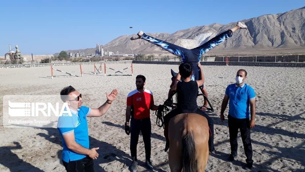 خبرنگاران آموزش آکروبات ژیمناستیک روی اسب در شاهرود برگزار گردید