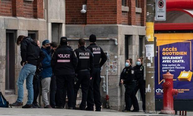 خبرنگاران گزارش رسانه ها از احتمال گروگانگیری در مونترال کانادا