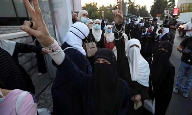 تحصن مقابل سفارت فرانسه در امان در محکومیت مواضع ماکرون