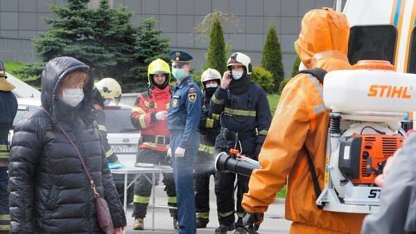 آتش سوزی در بیمارستان موقت بیماران کرونایی روسیه