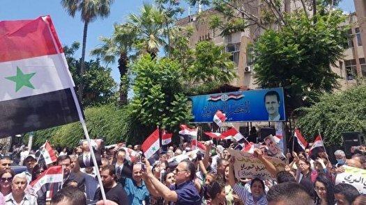 اعتراضات مردم سوریه علیه اشغالگران در دیرالزور