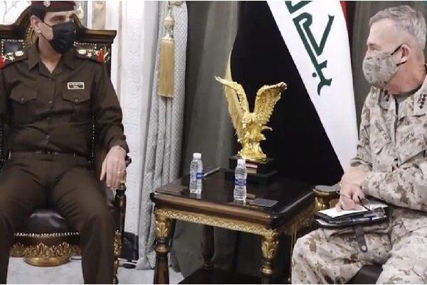 دیدار فرمانده سنتکام با رئیس ستاد مشترک ارتش عراق
