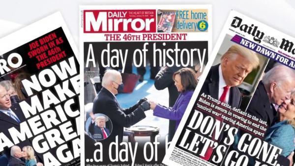 خبرنگاران روز تاریخی آمریکا، سرخط روزنامه های پنجشنبه انگلیس