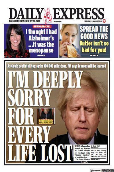 واکنش روزنامه های انگلیس به عبور قربانیان کرونایی این کشور از 100 هزار (تصاویر)