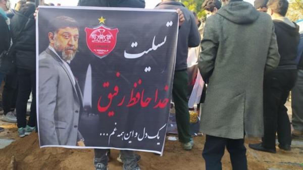 پیکر علی انصاریان در بهشت زهرا تشییع و به خاک سپرده شد