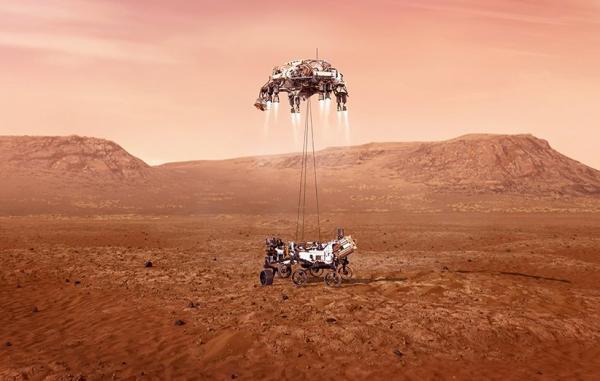 مریخ نورد پشتکار ناسا با موفقیت بر سطح مریخ فرود آمد