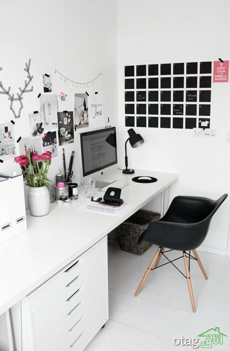 نمونه هایی از رعایت اصول فنگ شویی برای زیباسازی اتاق کار